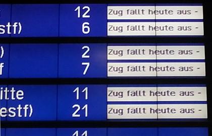 Zugausfälle Copyright Karsten-Thilo Raab